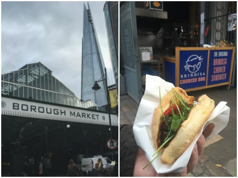 5 ingredient chorizo sandwich from the Borough Market recipe from @sweepthi