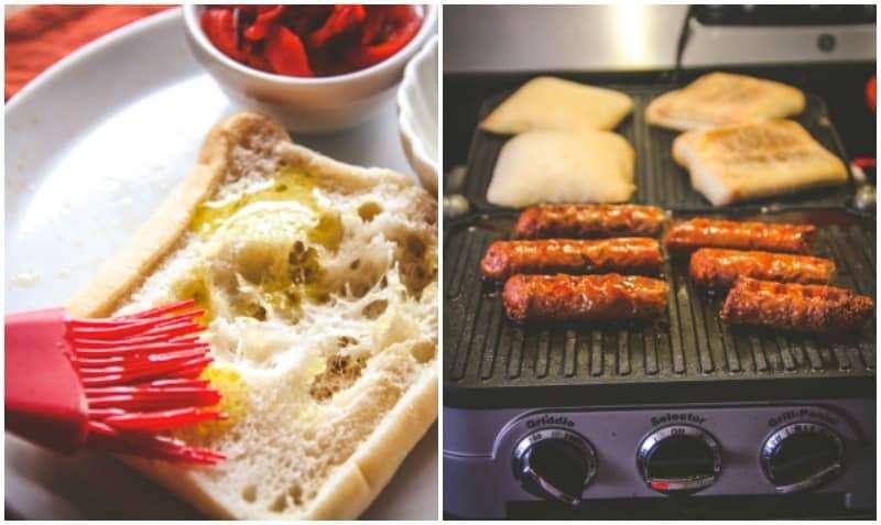 5 ingredient chorizo sandwiches from @sweetphi