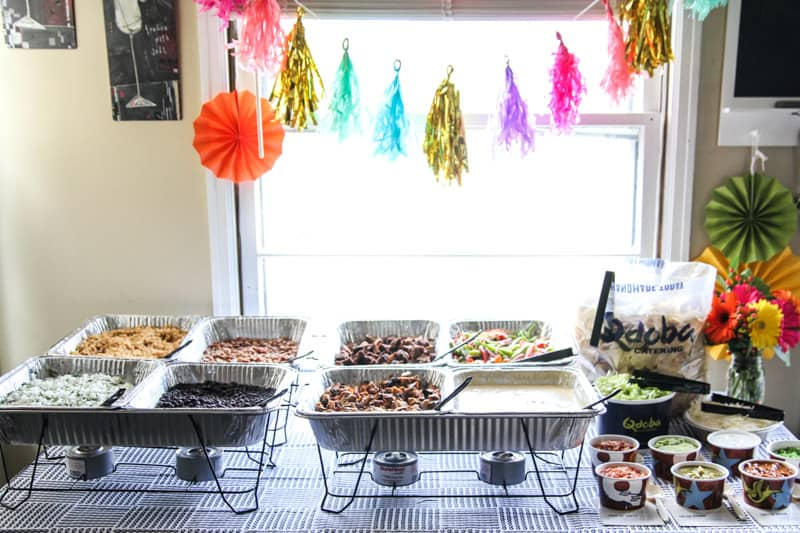 Qdoba catering party for cinco de mayo from @sweetphi