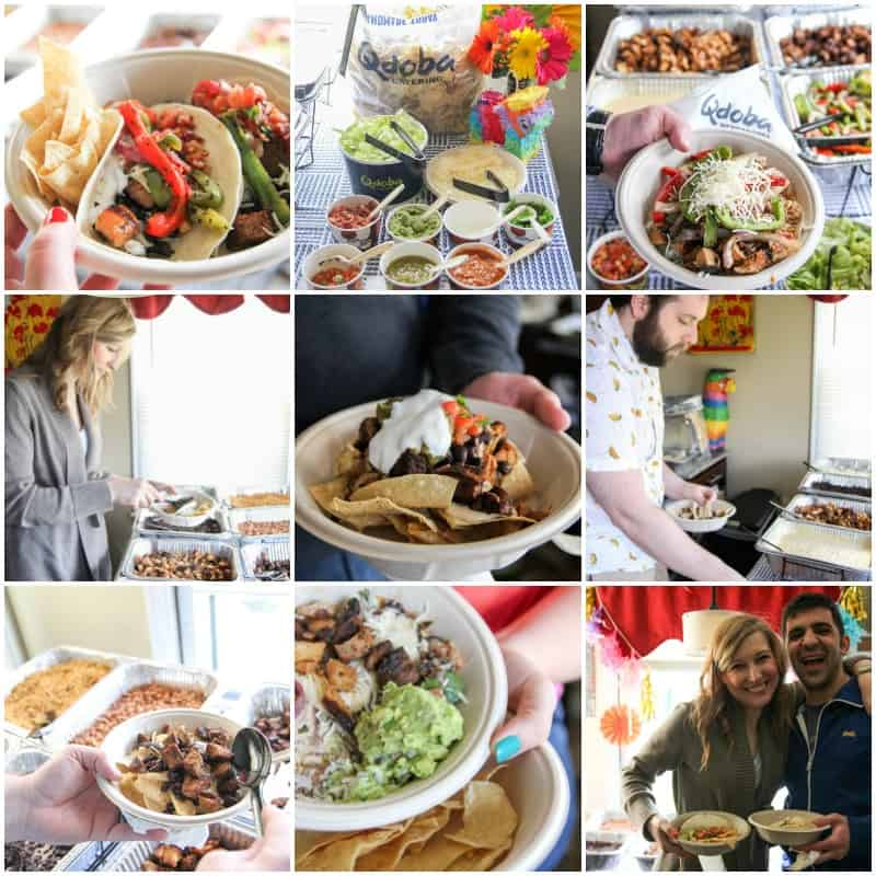 Qdoba catering for an easy cinco de mayo party on the @sweepthi blog