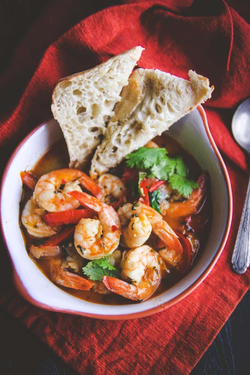White wine chili garlic butter shrimp from @sweepthi