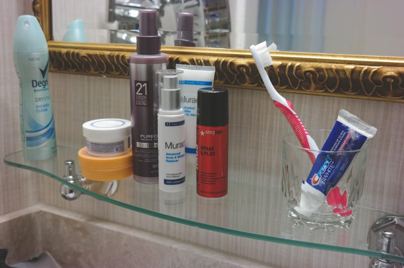 Hotel shelf at the amway grand