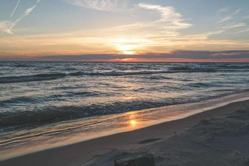 Sunset on Lake Michigan from @sweetphi