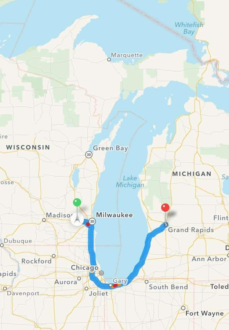 Milwaukee to Grand Rapids MI @sweetphi