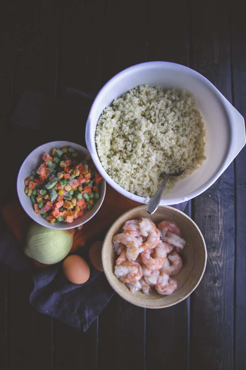 The best shrimp cauliflower fried rice ingredients- @sweetphi