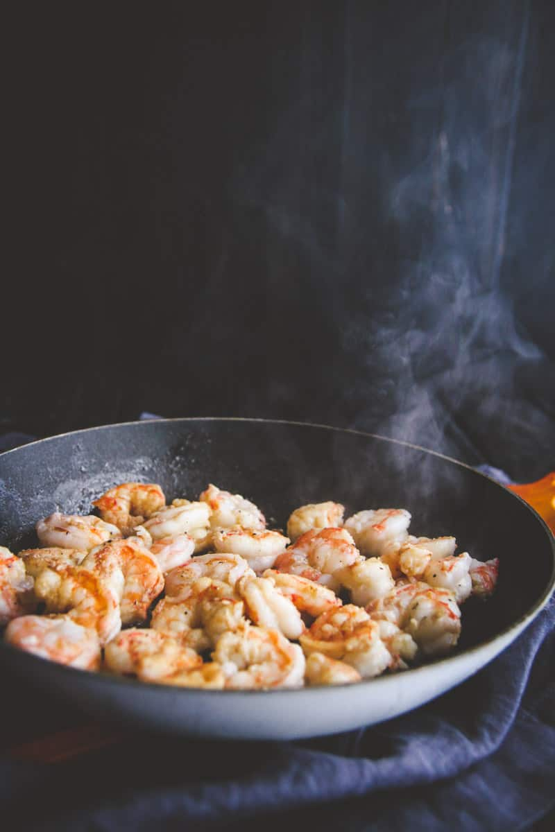 Shrimp for cauliflower fried rice- @sweetphi