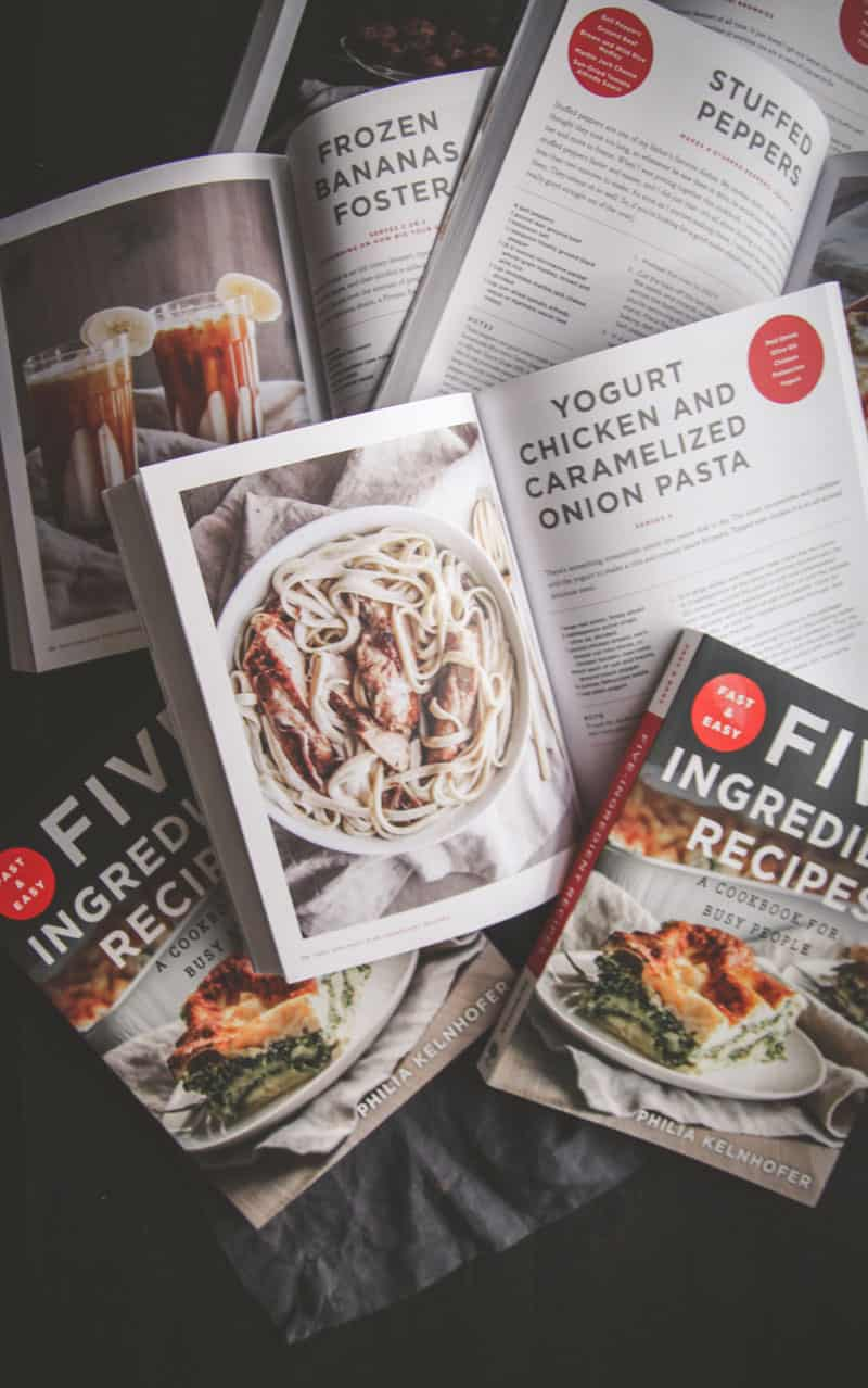 Fast and Easy Five Ingredient Recipes Cookbook Sneak Peak #sweetphicookbook @sweetphi