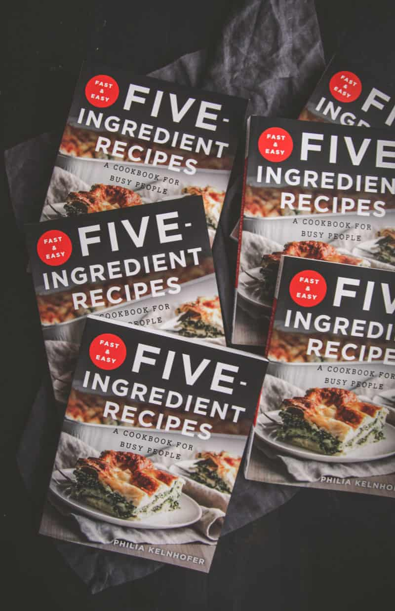 Fast and Easy Five Ingredient Recipes Cookbook #sweetphicookbook @sweetphi