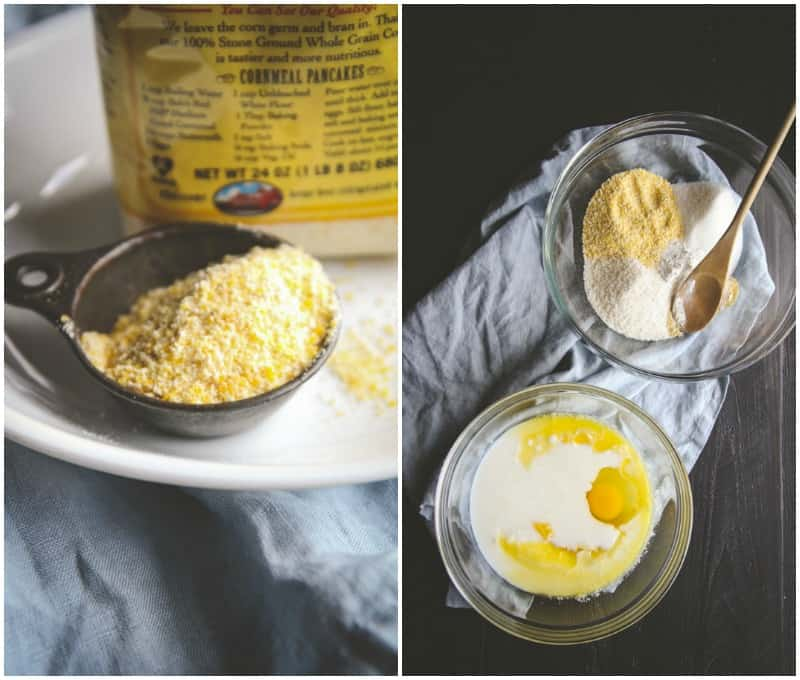 How to make skillet cornbread from @sweetphi