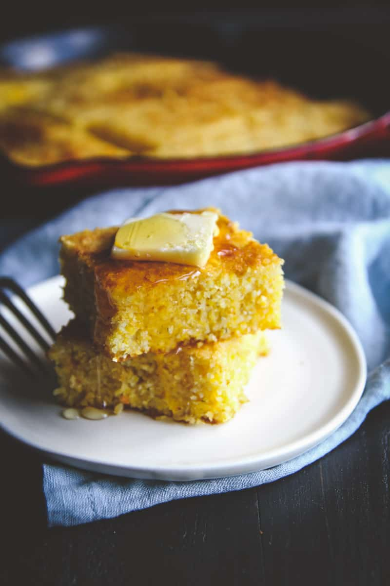Slightly sweet skillet cornbread recipe from @sweetphi