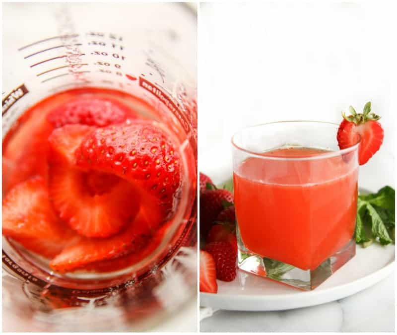 Easy 5 ingredient strawberry daiquiri cocktail recipe from @sweetphi