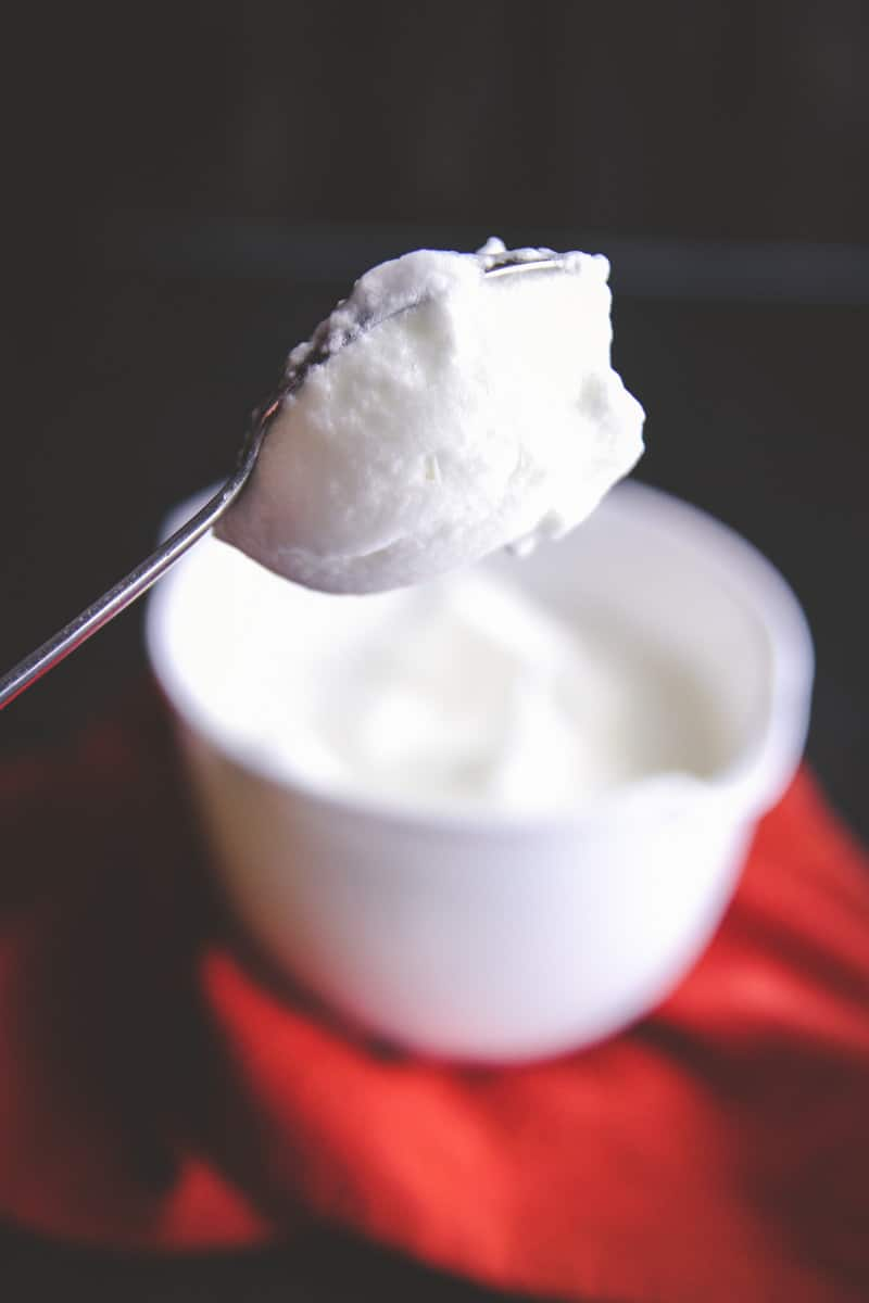 Whipping egg whites for 5 ingredient cake from @Sweetphi