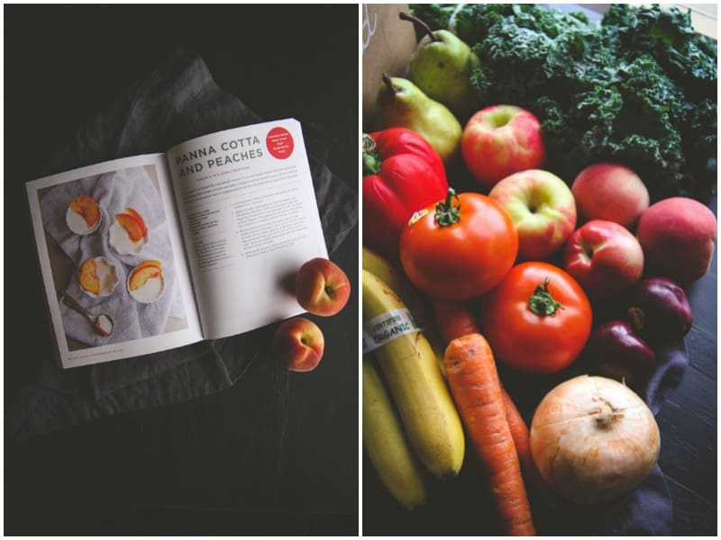 Door to Door Organics ingredients for cookbook recipes @sweetphi