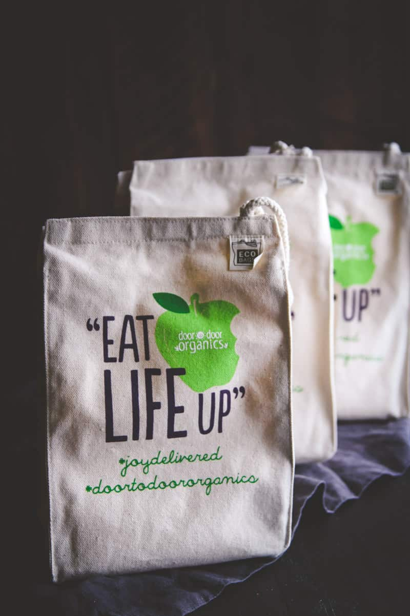 Door to Door Organics prize for cookbook launch party @sweetphi