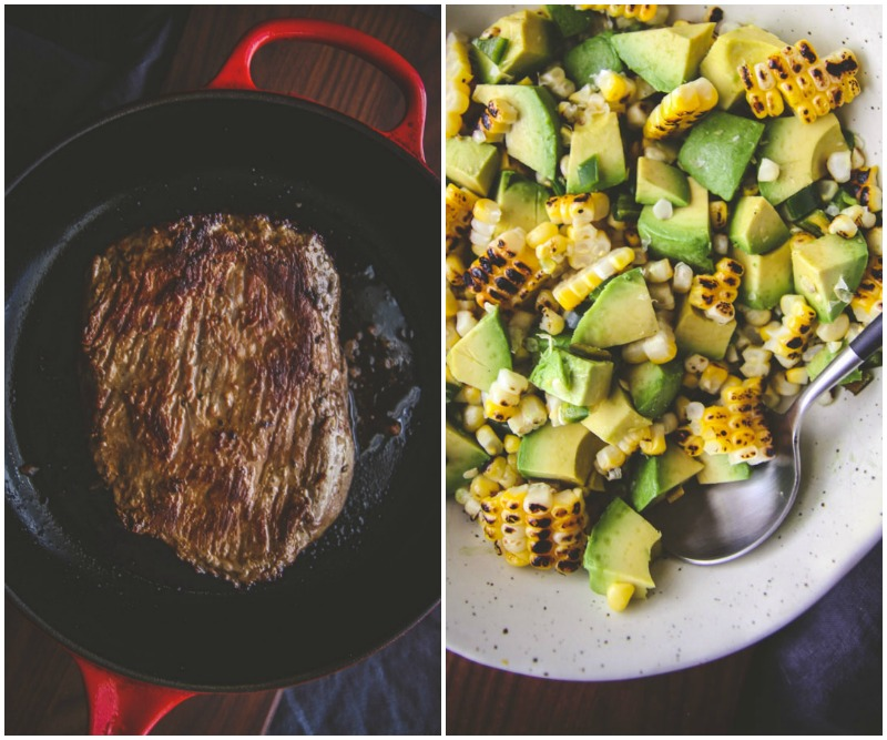 5 ingredient steak corn and avocado salad from @Sweepthi