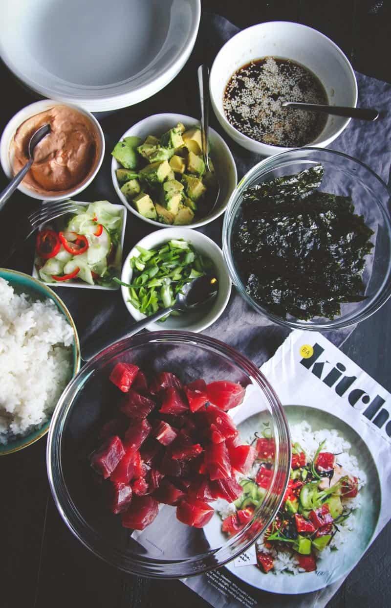 Ahi Tuna Poke Bowls Recipe