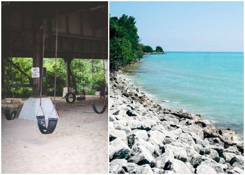 Swing Park in Milwaukee and Lake Michigan @Sweetphi