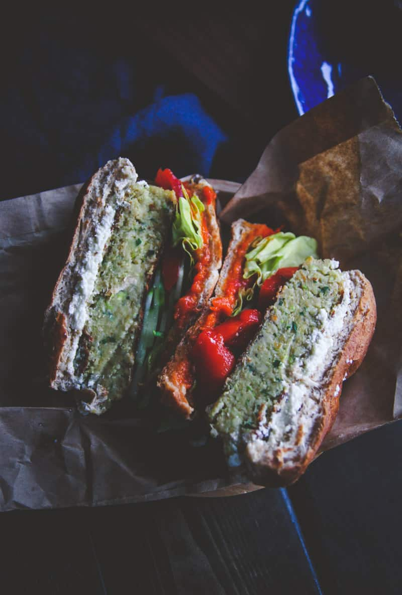 The best veggie burgers - chickpea and zucchini burgers from @Sweetphi -12