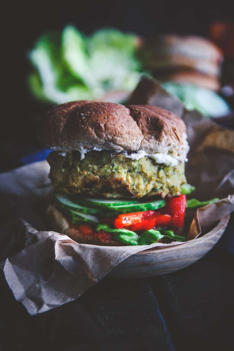 The best veggie burgers - chickpea and zucchini burgers from @Sweetphi