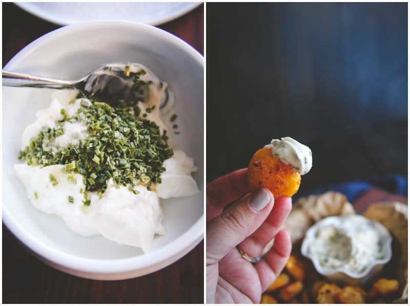 5 ingredient sour cream and chive dip