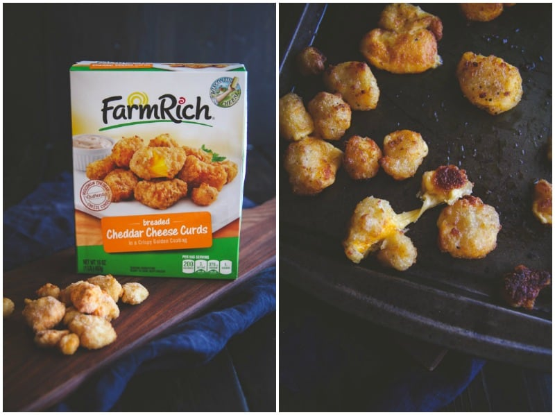 Baked breaded cheddar cheese curds @sweetphi