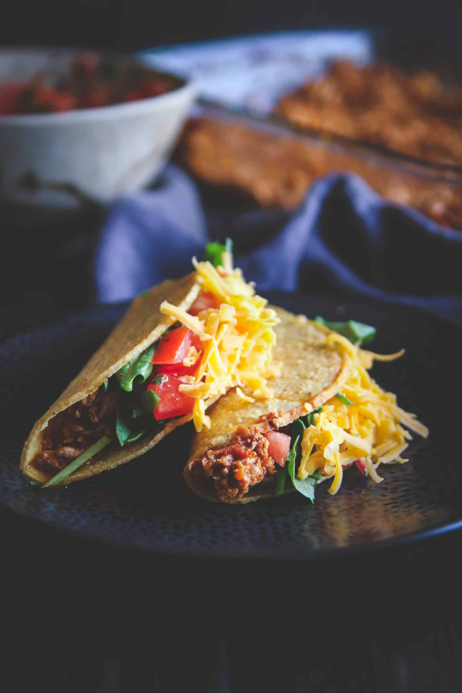 The best ground turkey tacos. Perfect for an easy and delicious taco tuesday recipe