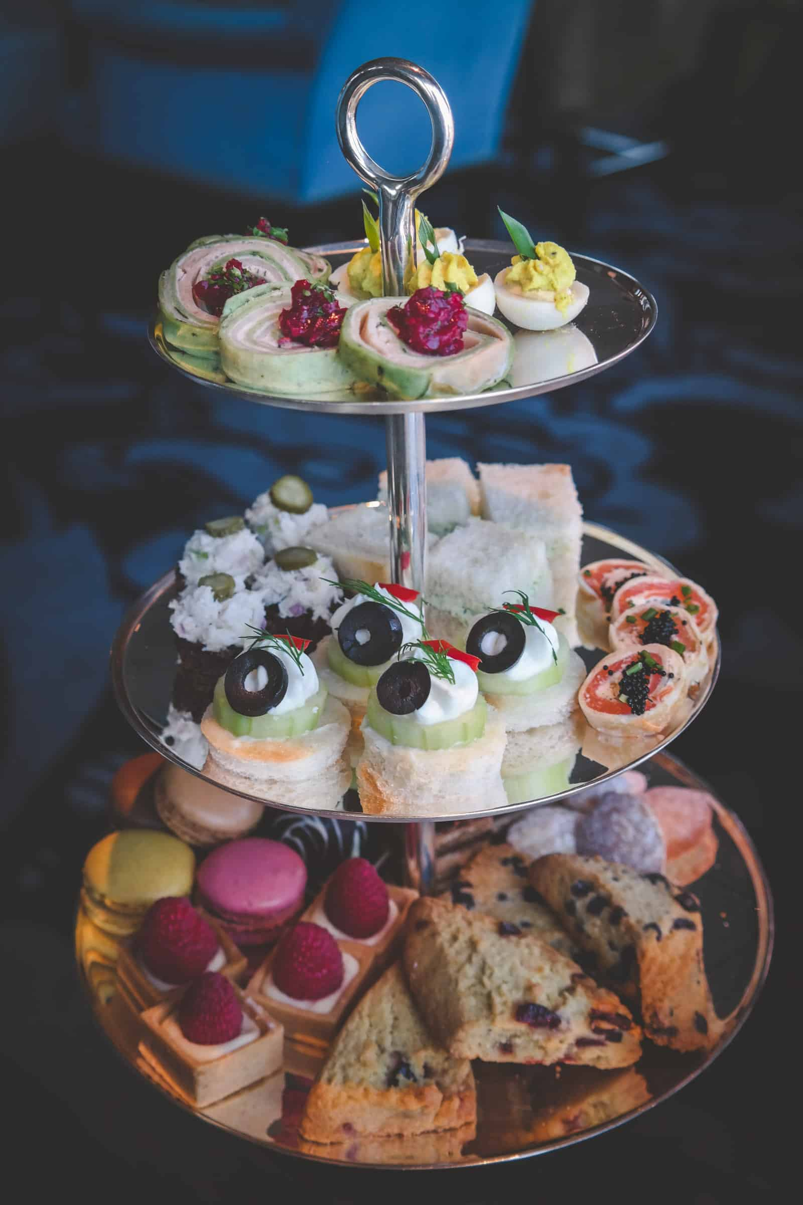 Afternoon tea sandwiches and pastries at the Pfister