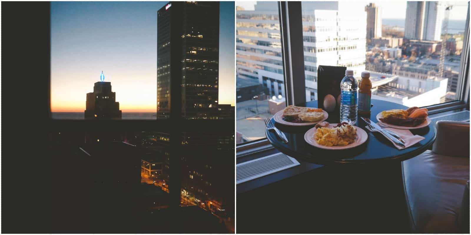 Milwaukee sunrise and breakfast at the Pfister
