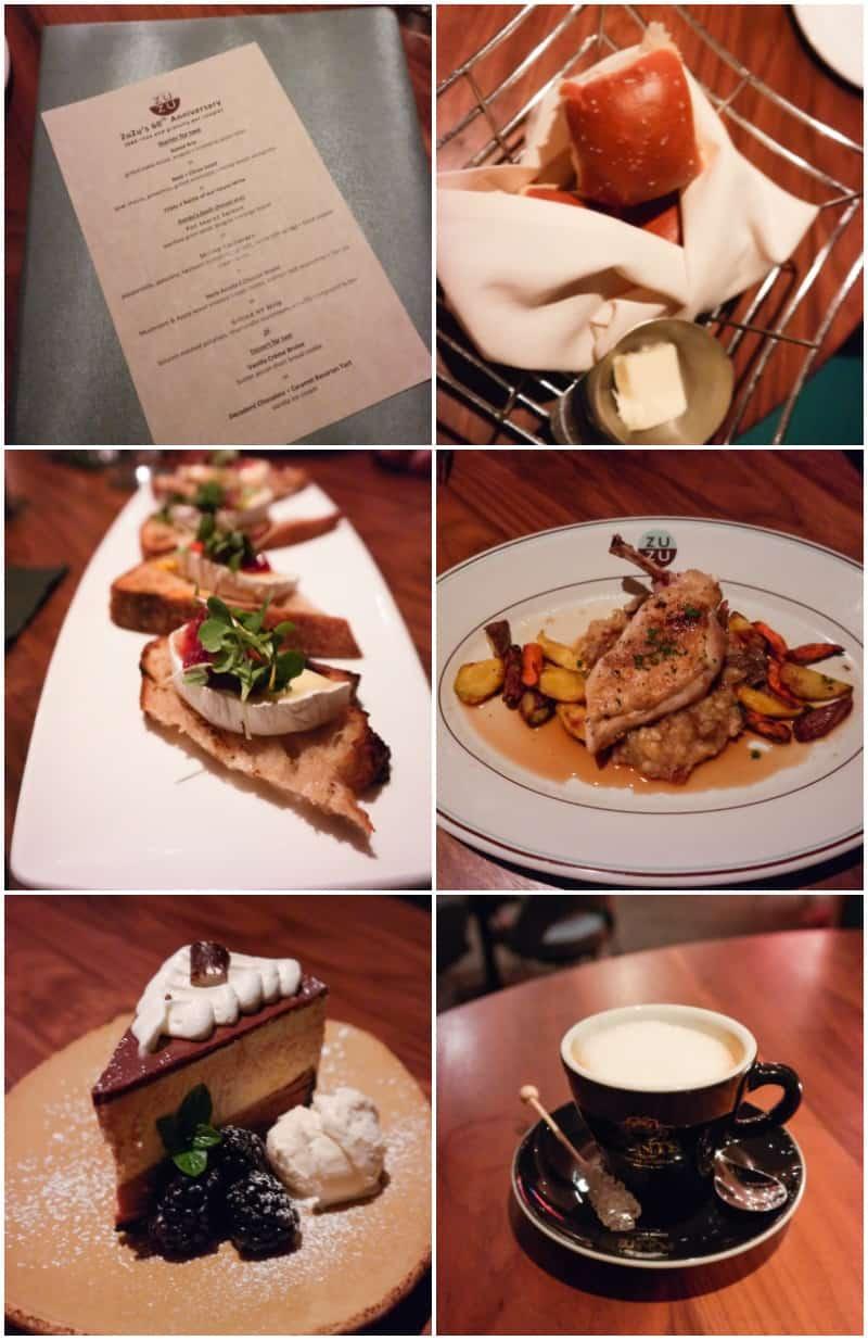 Dinner at Zuzu at Hotel Valley Hotel