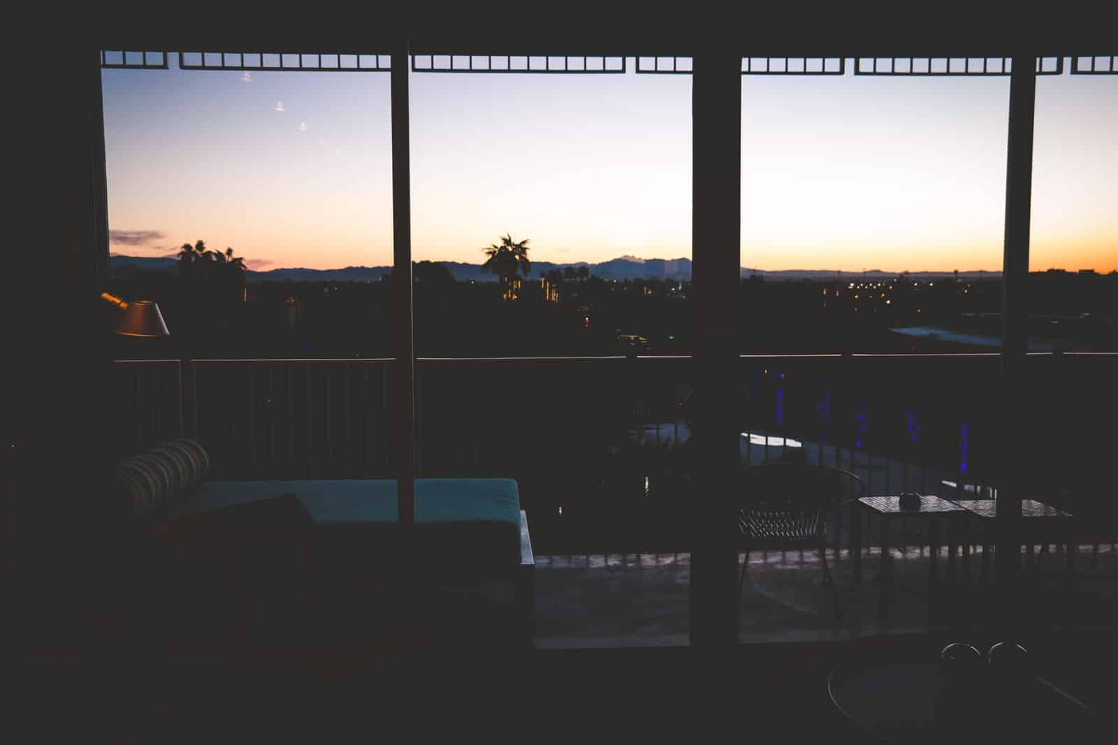 Sunrise at the Hotel Valley Ho