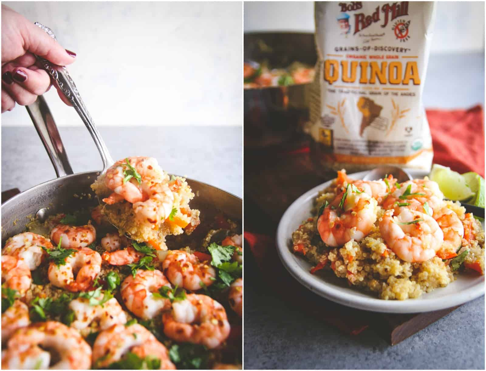 Healthy quinoa and shrimp recipe