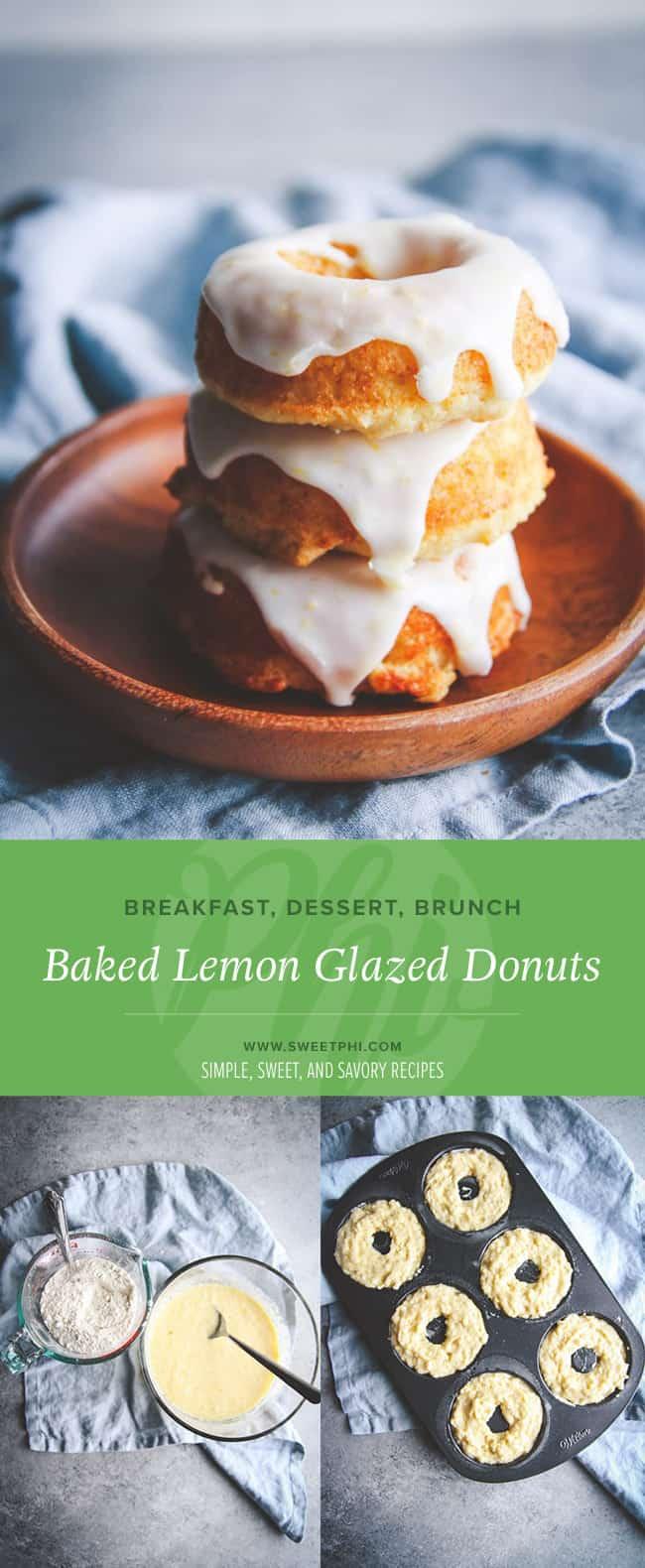 Baked lemon glazed donuts recipe, lemon donut recipe