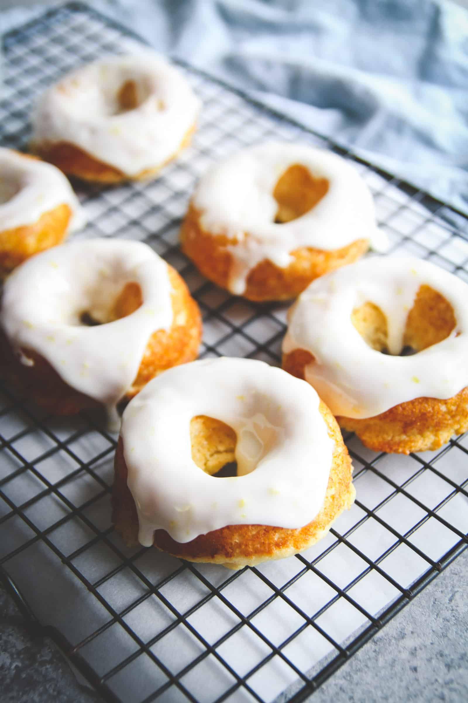 Baked lemon glazed donuts recipe. Baked doughnuts, lemon baked donuts recipe