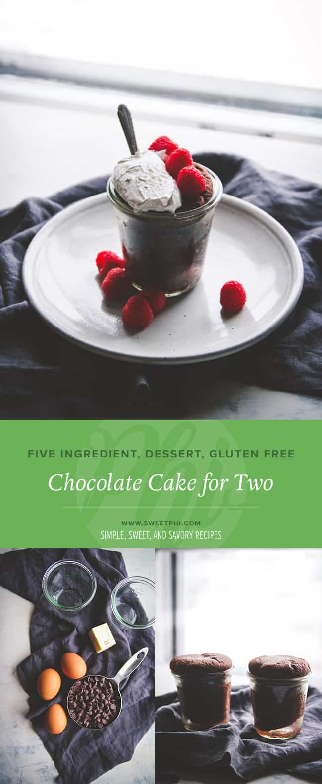 The perfect dessert to end a lovely date night. Ooey Gooey Chocolate Cake for Two!