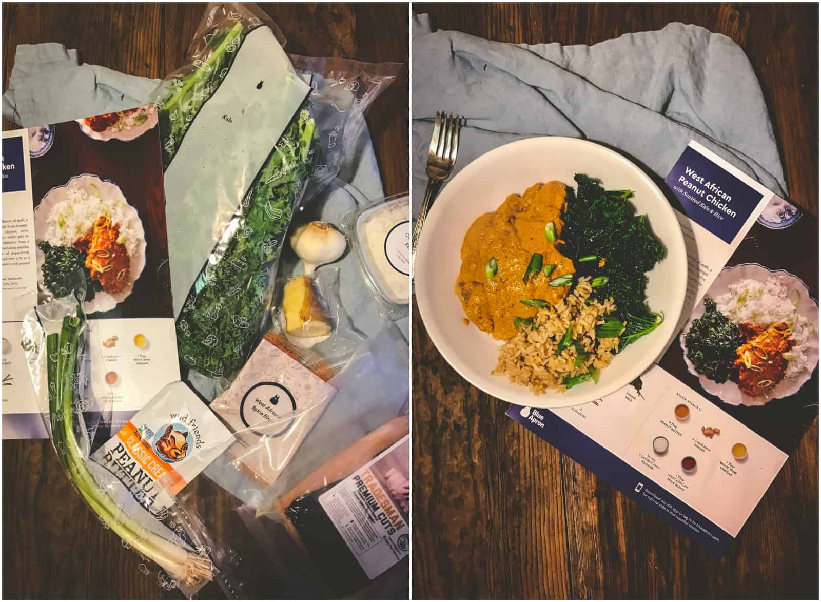 Blue Apron meal delivery service review : plated dinner service - pezcame.com