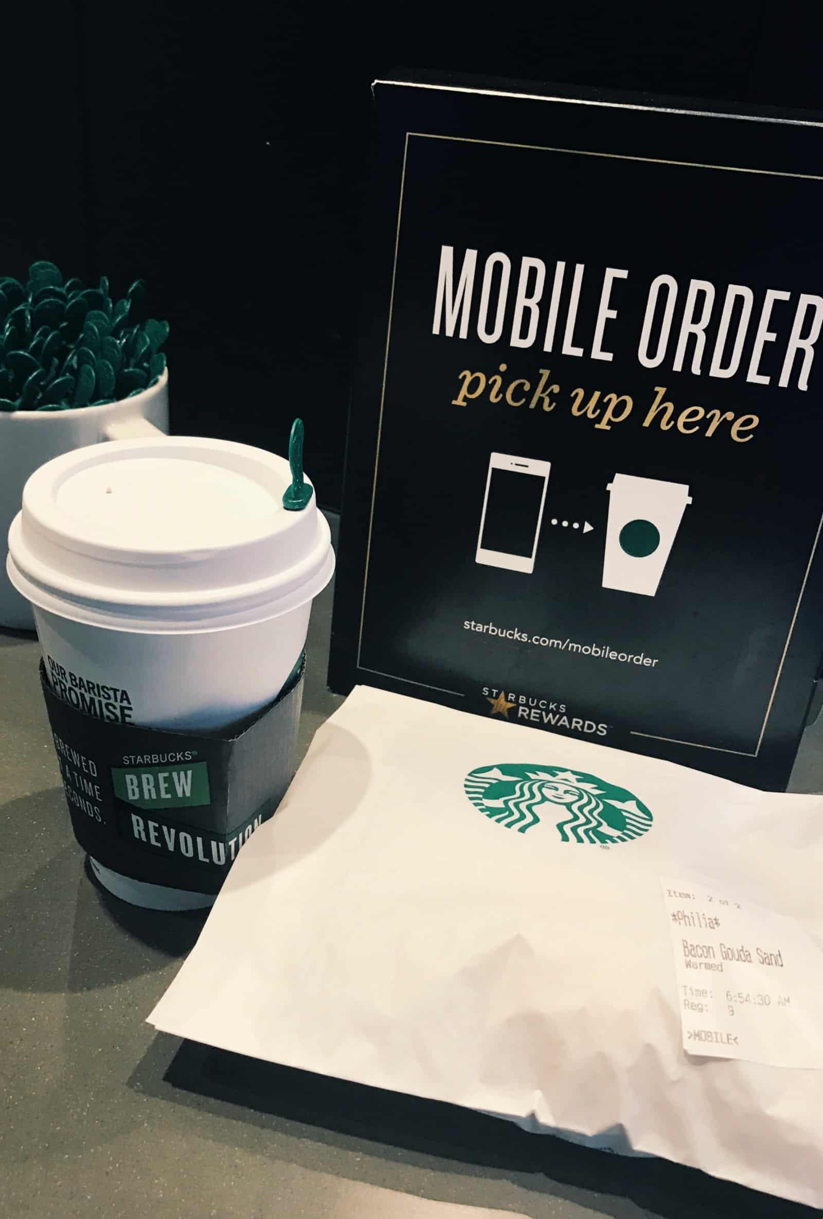 Starbucks mobile order pick up