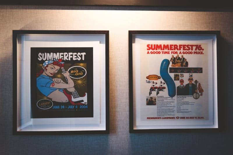 Summerfest artwork in the Journeyman Hotel