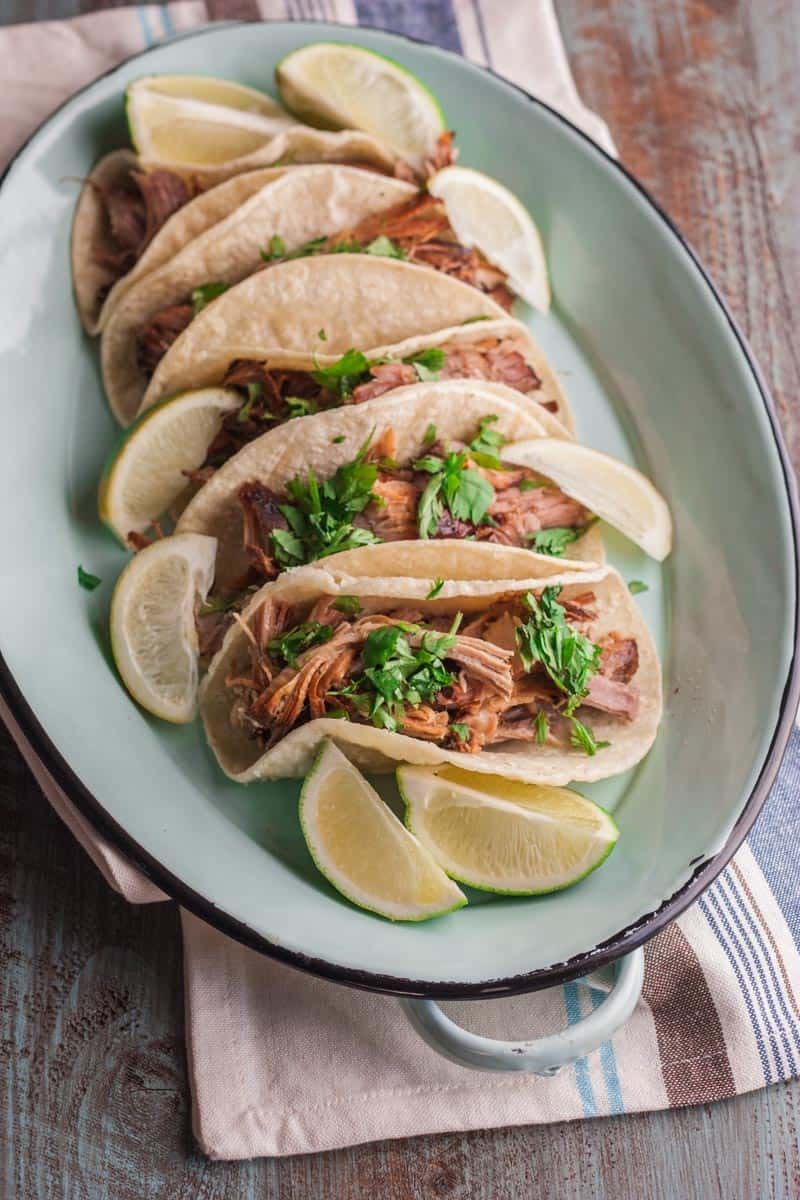 5 ingredient slow cooker pulled pork carnitas taco recipe
