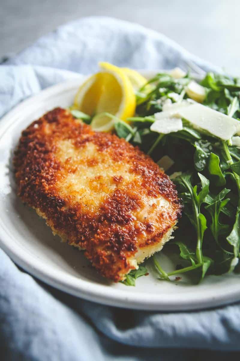 Crispy chicken arugula salad recipe