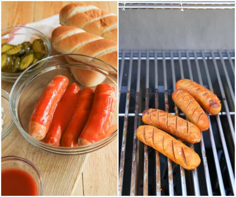 Easy grilled weeknight dinner: 5 ingredient hot chicken sausages recipe