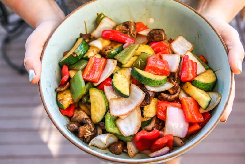 Balsamic grilled vegetable side dish recipe, side dish recipe, summertime side dish recipe, grilled vegetables recipe