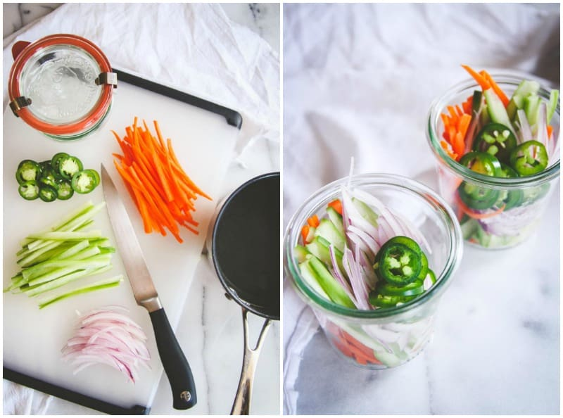 How to make quick pickled Asian vegetables