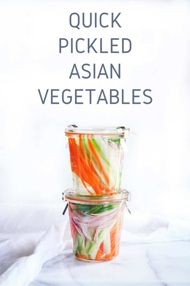 Quick pickled Asian vegetables recipe
