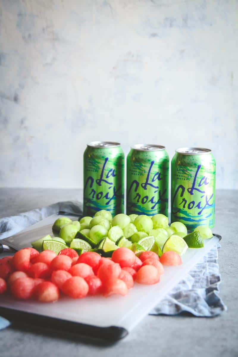LaCroix drink recipe, cucumber melon summer spritzer