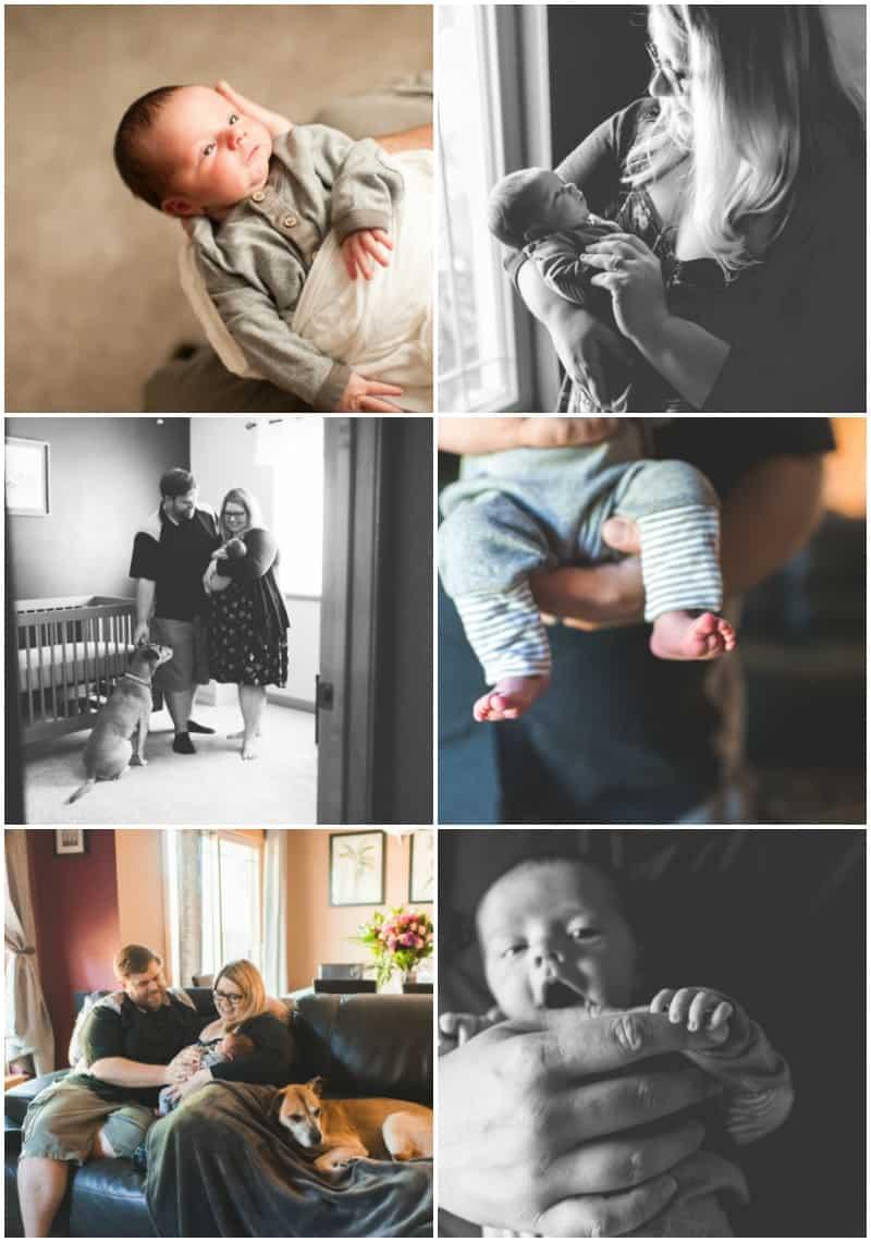 Baby Benedikt newborn photos Milwaukee
