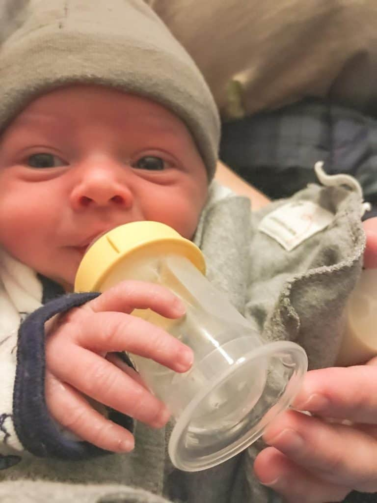 Feeding a 1 week old newborn