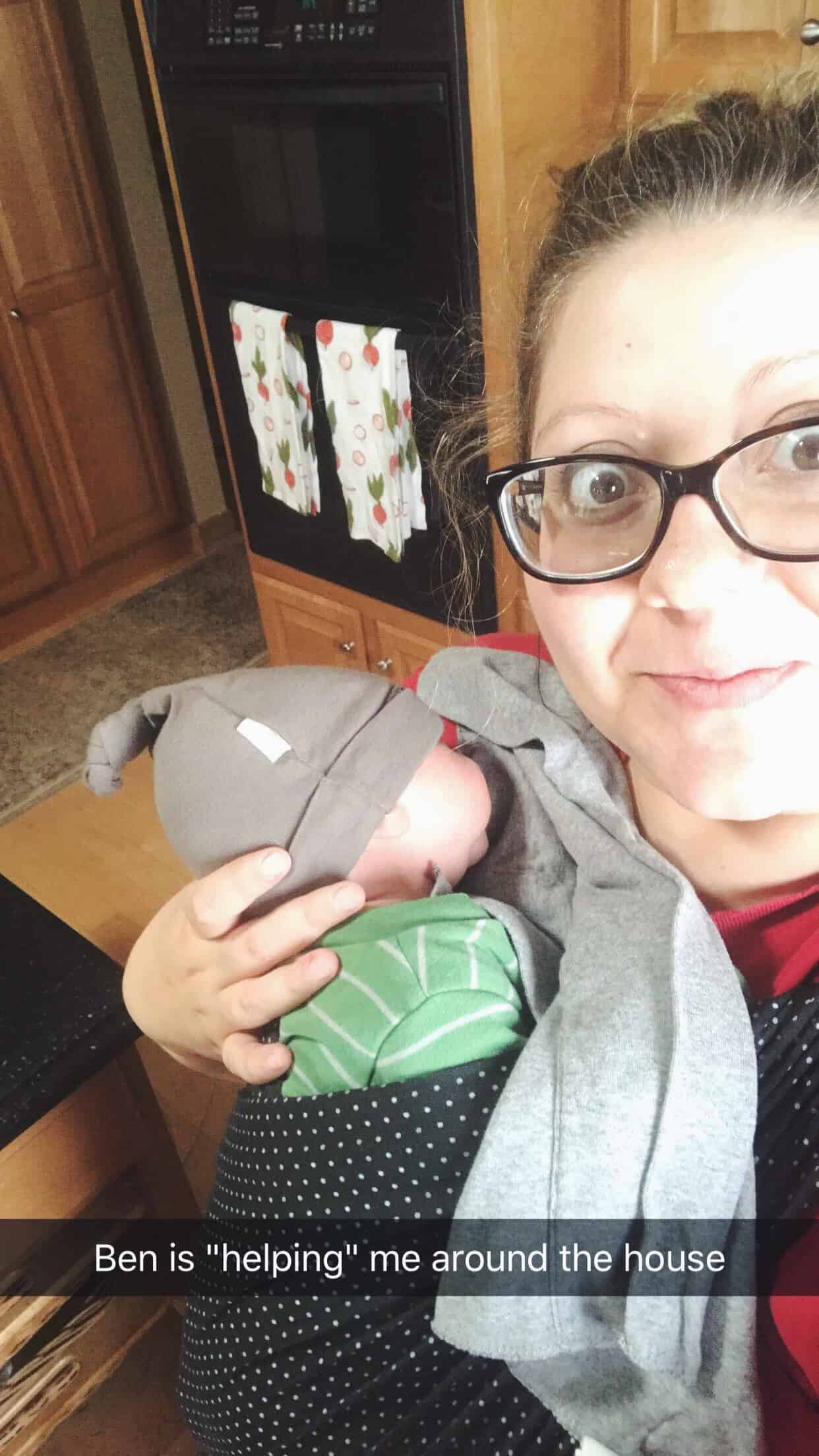 Baby wearing a newborn