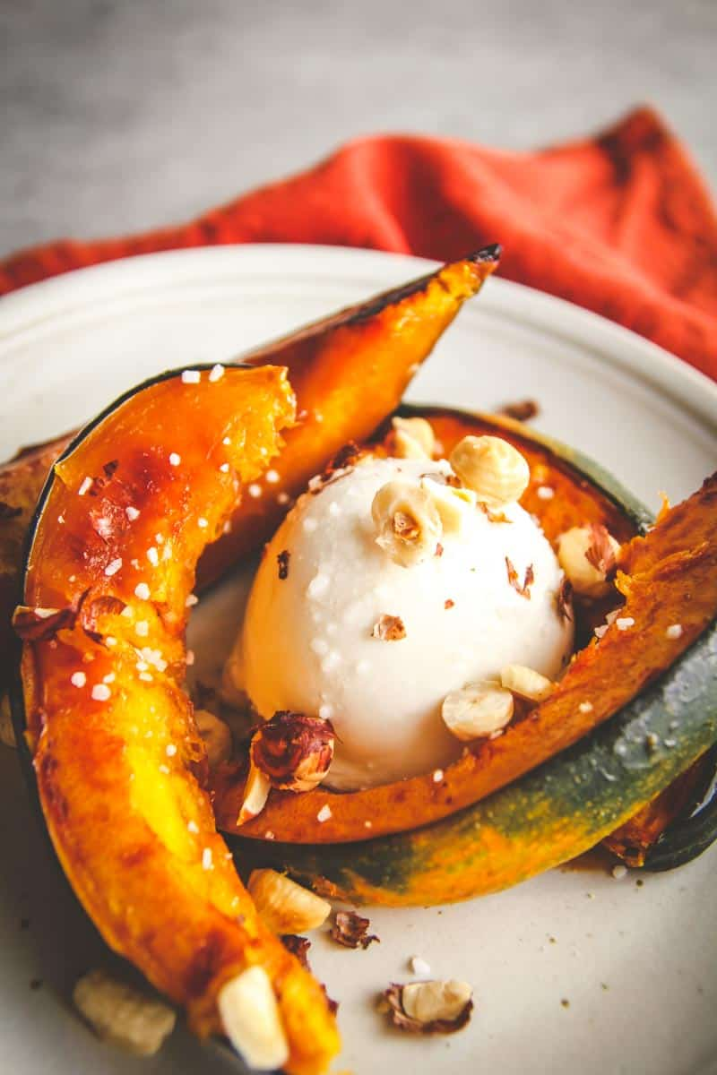 5 ingredient acorn squash burrata hazelnut salad recipe