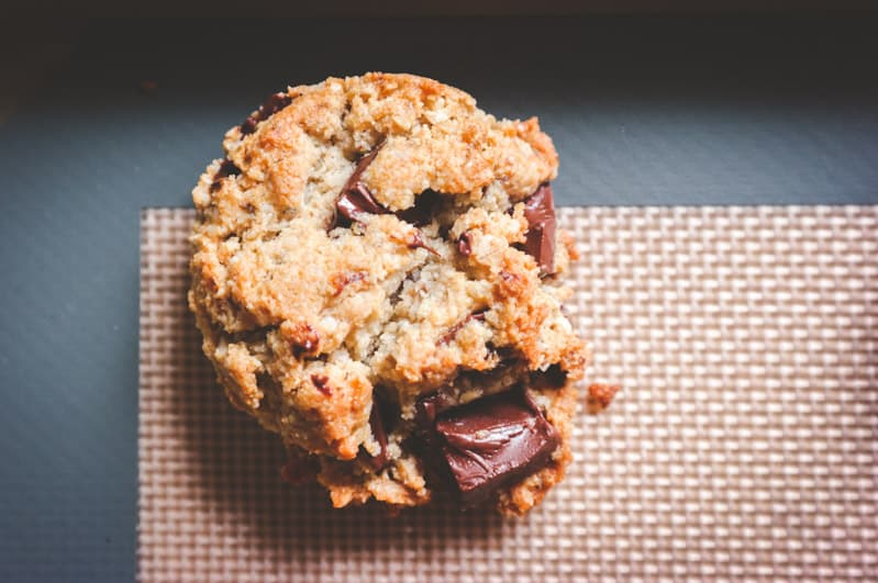 Plant based cookie recipe, chocolate chunk cookies, gluten free vegan chocolate chip cookies, gluten free vegan chocolate chunk cookies recipe, plant based cookies that are actually good!