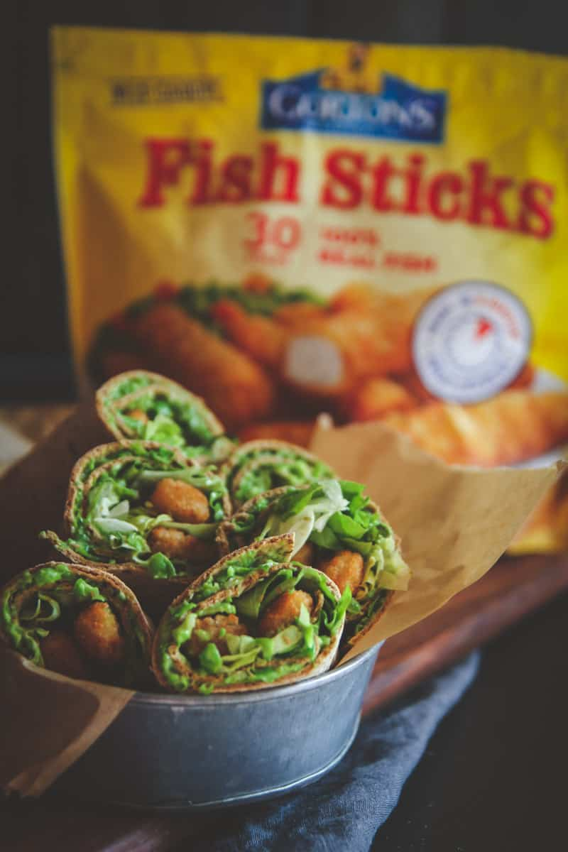 5 ingredient fish sticks wraps